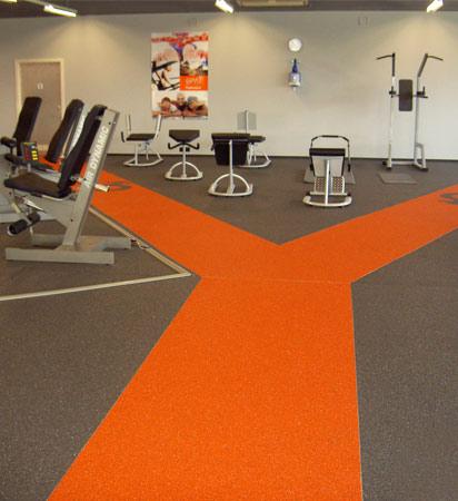 Suelo ornamental de diseño para gimnasio y actividades deportivas
