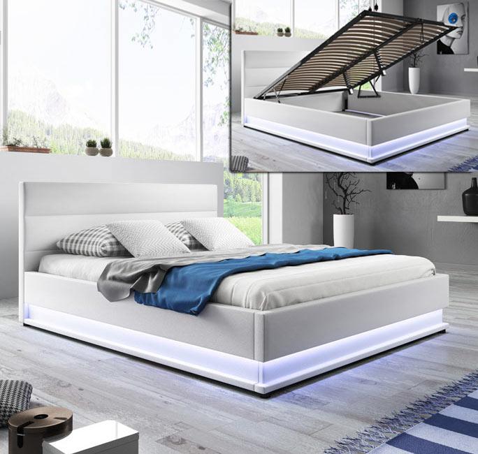 Cama canapé de diseño Nitas en color blanco