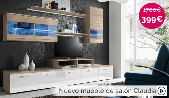 mueble de diseño Claudia color sonoma